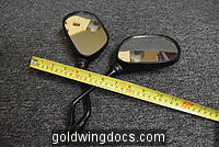 Pair of standard 5 x 3.5 inch motorcycle mirrors