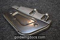 GL1800 Left Passenger Footboard Assembly w/ Chrome